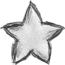 Favourite, bookmark, rank, star Black icon