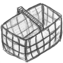 Empty, Blank, Basket Black icon