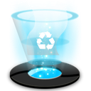 Full, recycle DeepSkyBlue icon