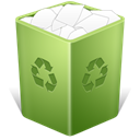 Trash, Full, recycle bin OliveDrab icon