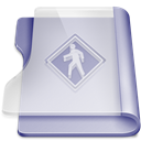 Book, reading, read, public, purple LightGray icon