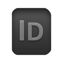 File, indd, document, Indesign, paper Black icon