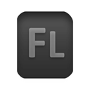 Flash, document, paper, fla, File Black icon