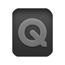 document, paper, File, quicktime Black icon