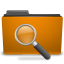Find, search, seek, Orange, saved, Folder DarkGoldenrod icon