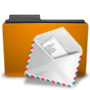 envelop, Letter, Message, mail, Email, Orange, Folder DarkGoldenrod icon