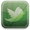 green, twitter, eco DarkSeaGreen icon