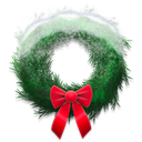 wreath, snowy, Holiday Black icon