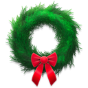 wreath, Holiday Black icon