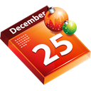 Calendar, date, christmas, Schedule Black icon