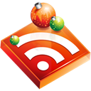 christmas, feed, Rss, subscribe Black icon