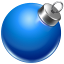 red, Ball, Blue, christmas DodgerBlue icon
