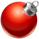 christmas, red, Ball Firebrick icon