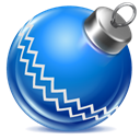 Blue, Ball, christmas DodgerBlue icon