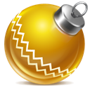 yellow, christmas, Ball, red DarkGoldenrod icon