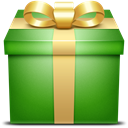 present, gift box, Box, gift, green ForestGreen icon