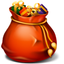 Bin, recycle, xmas, Full, christmas OrangeRed icon