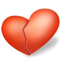 Broken, Heart, love, valentine Tomato icon