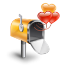 mail, envelop, Email, Letter, valentine, love, Message Black icon