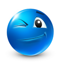 wink DodgerBlue icon