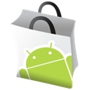 Android, google, market Black icon
