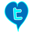 tweeter, Heart, love, valentine DarkCyan icon