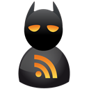 subscribe, Rss, feed, Batman Black icon