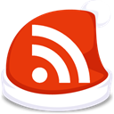 red, feed, Rss, subscribe, xmas OrangeRed icon