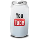 youtube, drink Black icon
