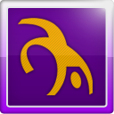 Social, social network, Backflip Indigo icon