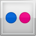 Social, social network, flickr Silver icon