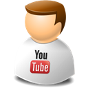 people, youtube, profile, user, web, Account, Human Black icon