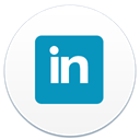 Linkedin LightSeaGreen icon