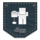 Digg DarkSlateGray icon