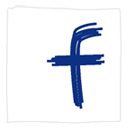 White, Sn, Facebook, Social, social network MidnightBlue icon