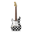 guitar, stratocaster, ska Black icon