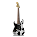 guitar, cow, stratocaster Black icon