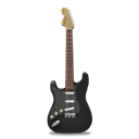 Black, stratocaster, guitar Black icon