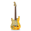 stratocaster, retropeach, guitar Black icon