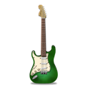 guitar, stratocaster, green Black icon