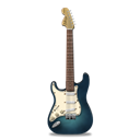 guitar, stratocaster, Turquoise Black icon