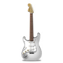 guitar, White, stratocaster Black icon
