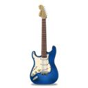stratocaster, guitar, Blue Black icon