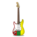 stratocaster, Reggae, guitar Black icon