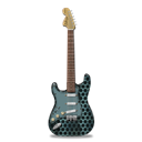metallicholes, stratocaster, guitar Black icon
