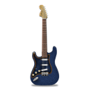 jean, stratocaster, guitar Black icon