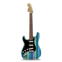 guitar, stripes, stratocaster Black icon