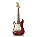 stratocaster, red, guitar Black icon