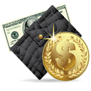 wallet, Money DarkSlateGray icon