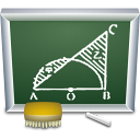 teaching, education, school, teach, learn, Black board DarkSlateGray icon